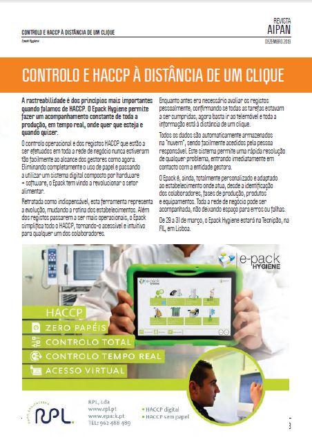 AIPAN: Rastreabilidade e controlo no HACCP