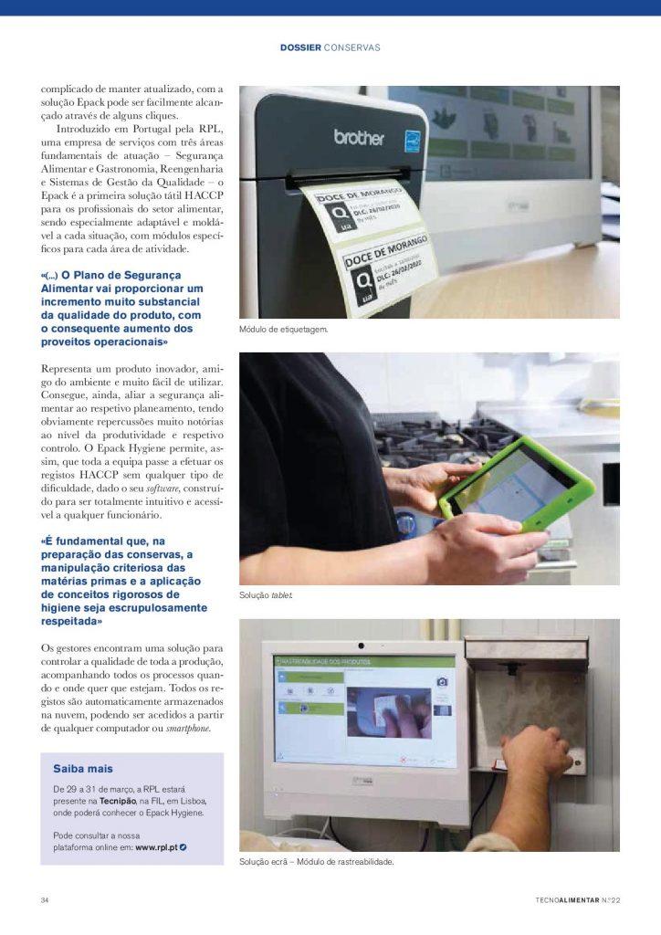 Tecnoalimentar: Rastreabilidade – Solução HACCP digital